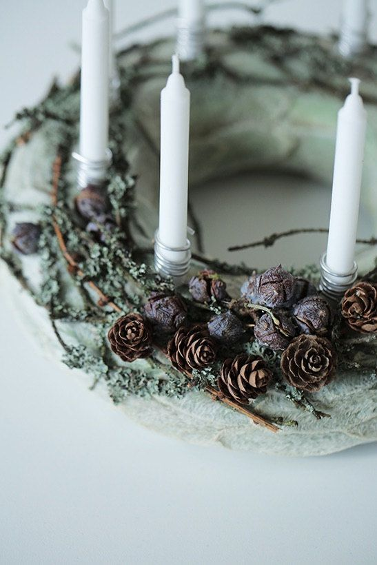 Custom order for Kirsten Advent Wreath- Holiday Wreath- Christmas Wreath- Candle ring -Centerpiece – Home decor