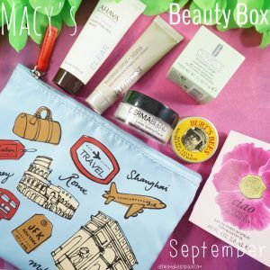Check out my Macy's Beauty Box September 2017 Edition featuring Ahava, Laura Mercier, Dermablend, Burt's Bees, Clinique, and Vince Camuto.