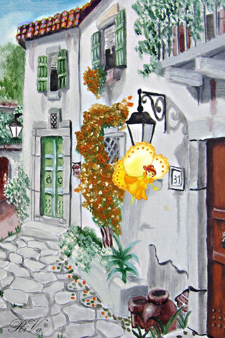 Le stradine pittoresche e le case di campagna si susseguono una dopo l'altra. Bisogna fare presto se si vuole arrivare in tempo dall'insegnante di pittura. @rosalucebooks