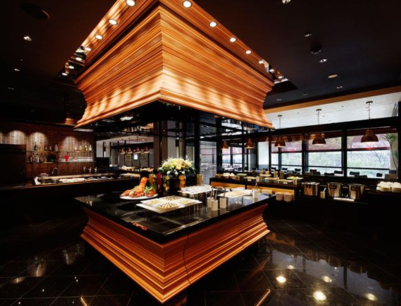overhead design at hotel nikko kanazawa buffet restaurant The