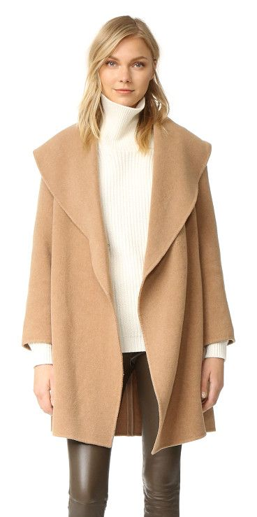 Kimana coat by Club Monaco. An unstructured Club Monaco topcoat with an oversized shawl collar. A hook and eye closure fastens the placket. On se...
