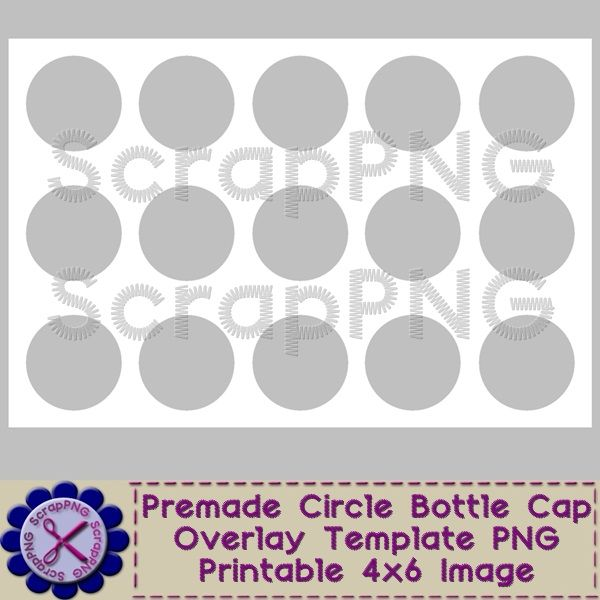 Bottle Cap Template Perfect Circle Printable 4x6 Digital Sheet - circle template