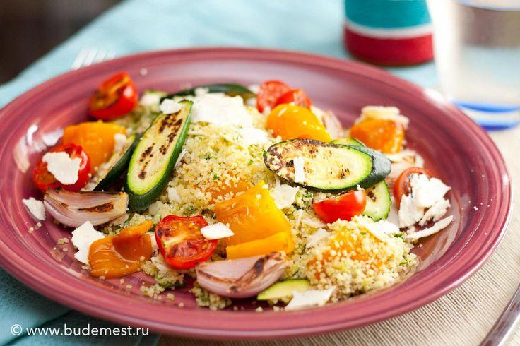 #Кускус с #песто из петрушки и овощами на гриле   #рецепты #кулинария #итальянскаякухня