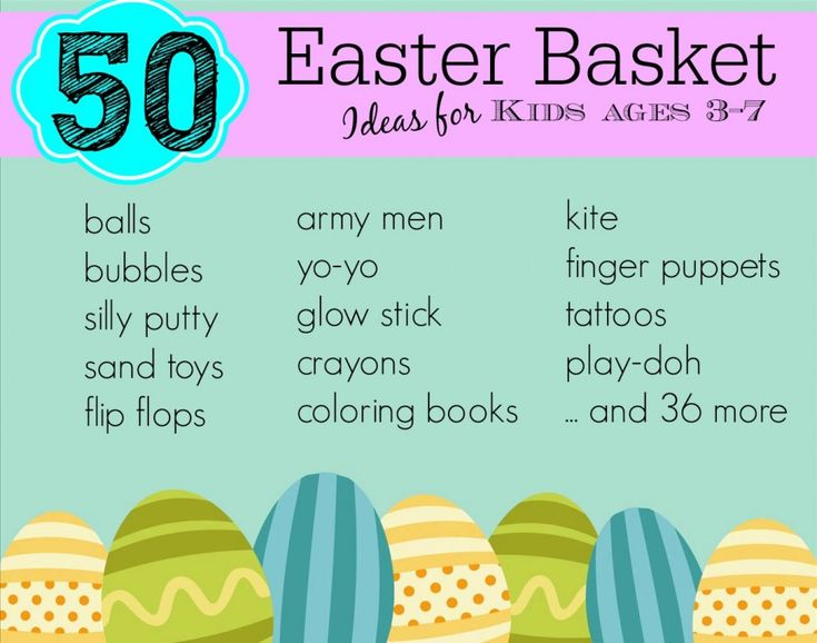 50 Non Candy Easter Basket Ideas For Ages 3 7 Easter