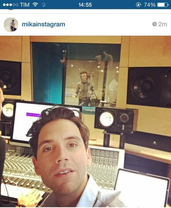 """""""In Notting Hill recording last few BVs with Max"""" - Feb 24th, 2015 - from Mika's instagram"""
