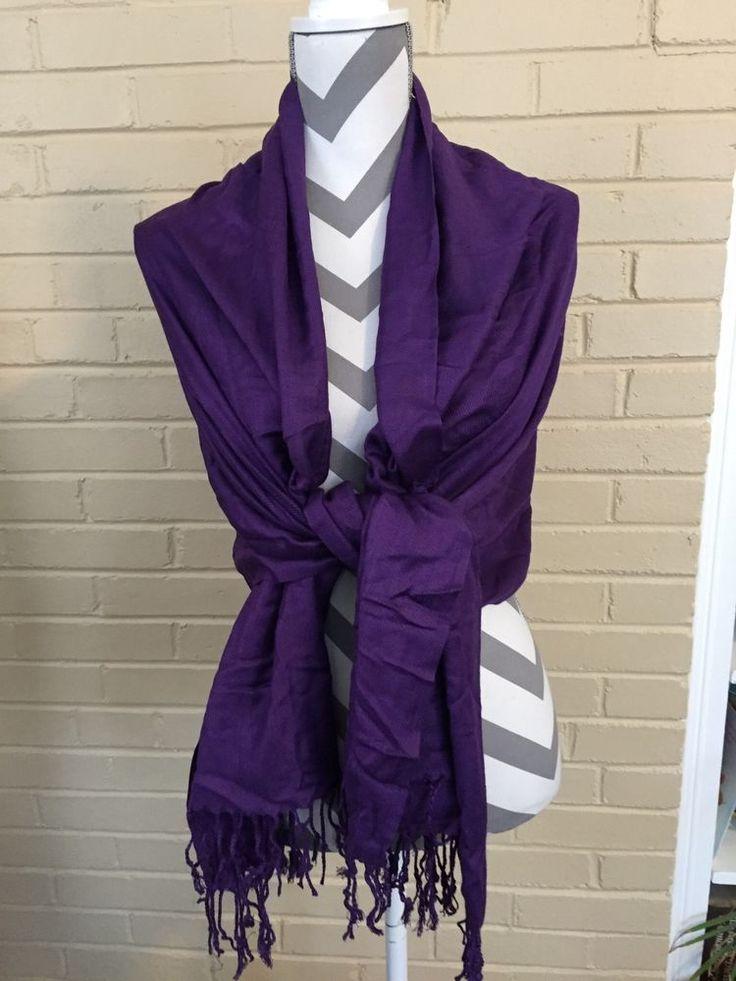 Purple Pashmine Scarf/wrap With Purple Fringe  | eBay