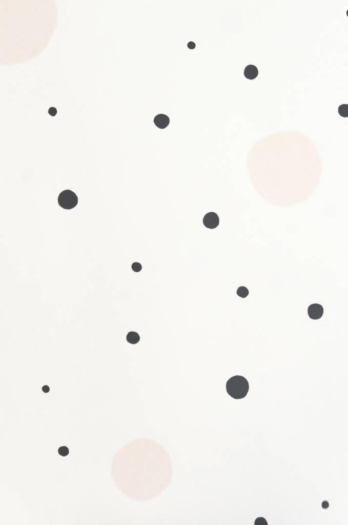 majvillan confetti soft black behang | Cozykidz