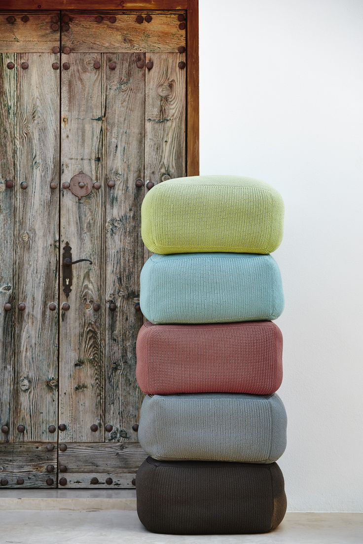 Divine footstool in colors matching any furniture both inside and outside.