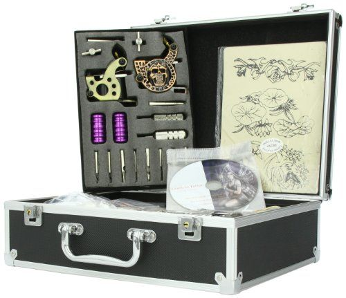 Complete Tattoo Kit 6 Guns Tattoo Machine with Liner Shader Gun Power Supply Ink more T06 - http://tattookits.co/complete-tattoo-kit-6-guns-tattoo-machine-with-liner-shader-gun-power-supply-ink-more-t06/