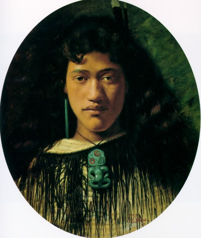 Hinemoa: the Belle of the Kainga by Charles Goldie, Oil on canvas