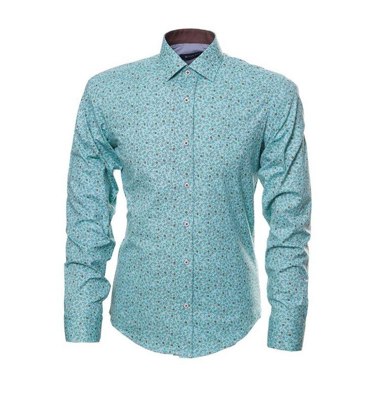 Бирюзовая рубашка с принтом по супер выгодной цене 3290 руб, с бесплатной доставкой по Москве и России без предоплаты. В наличие размеры M XL S, приезжайте к нам в магазин!