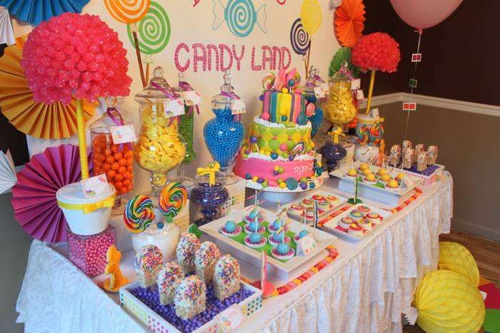 Candy land birthday party ideas decoraci n de fiestas - Decoraciones para postres ...