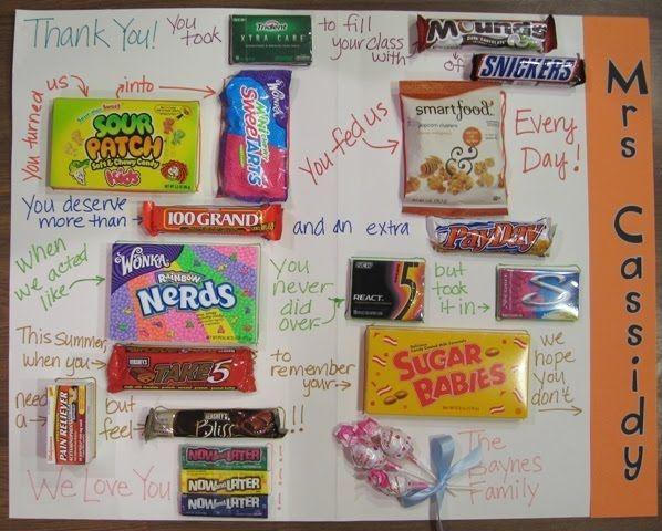 Candy Bar Teacher Thank You   Giant Candy Thank You Card ...