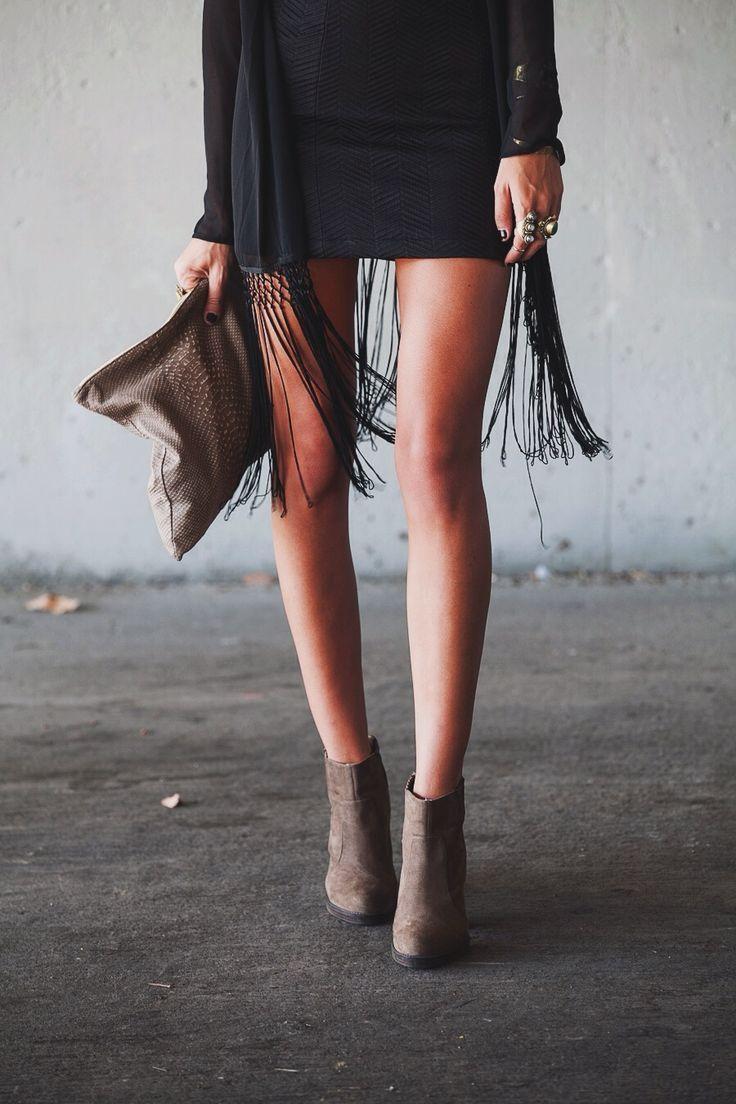 Vestido e botas