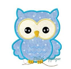 Owl Applique - 3 Sizes! | Birds and Birdhouses | Machine Embroidery Designs | SWAKembroidery.com Dollar Applique