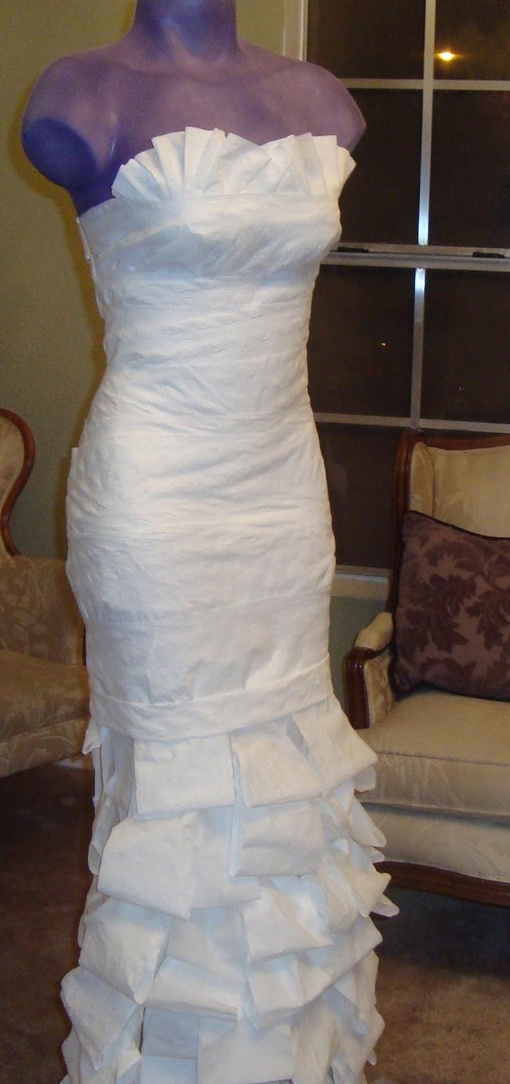 Fresh Toilet paper wedding dress