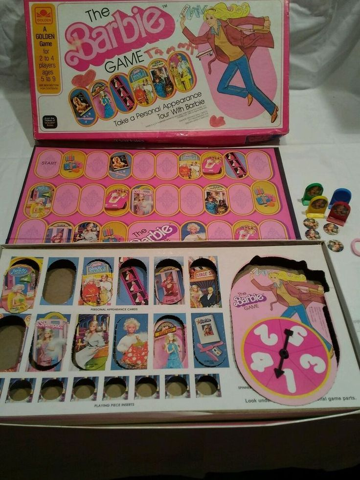 Mattel The Barbie Game, 1980 Take a Personal Appearance Tour with Barbie  #Mattel