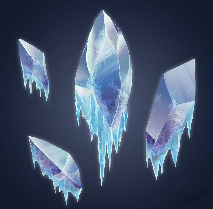 Ice Crystals by SketchingSands on deviantART