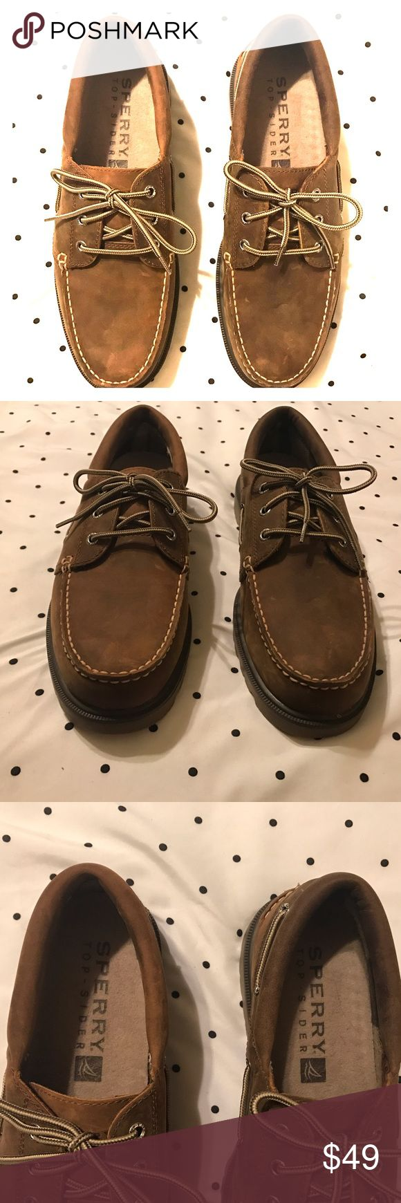 Sperry Top-Sider Dark Brown Leather Boat Shoes Sperry Top-Sider  Dark brown leather boat shoes  Men's size 10.5M  Waterproof  Leather upper   Excellent like new condition. Sperry Top-Sider Shoes Boat Shoes