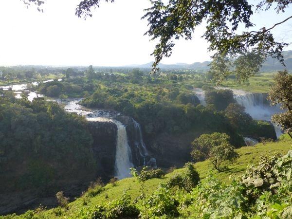 Watervallen van de Blauwe Nijl.