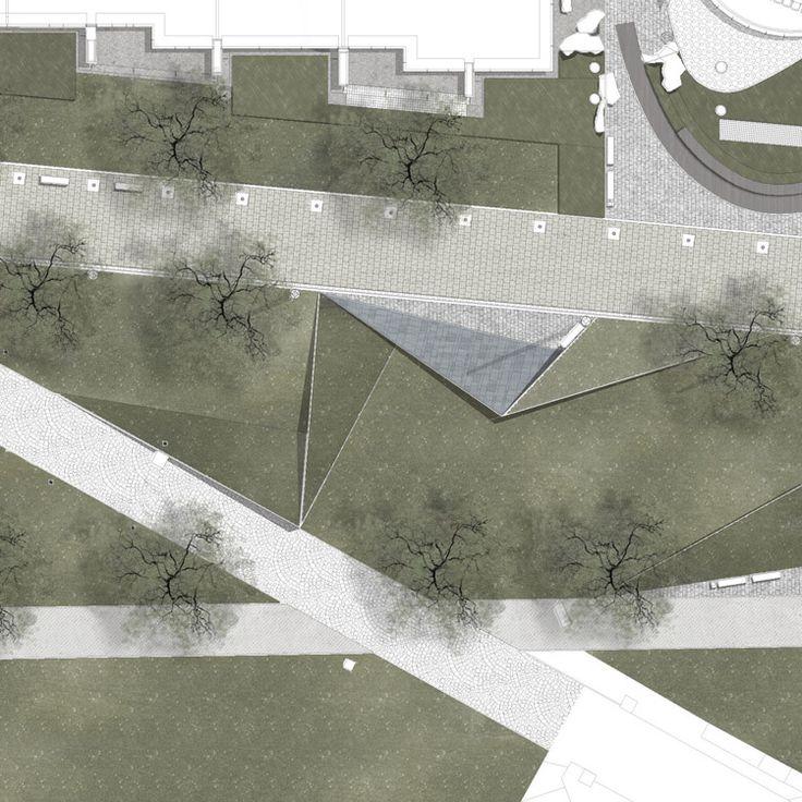 Riverside Origami by Garten Studio - Plan drawing inspiration