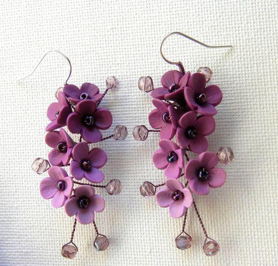Gioielli da sposa fiore gioielli gioielli viola di insoujewelry