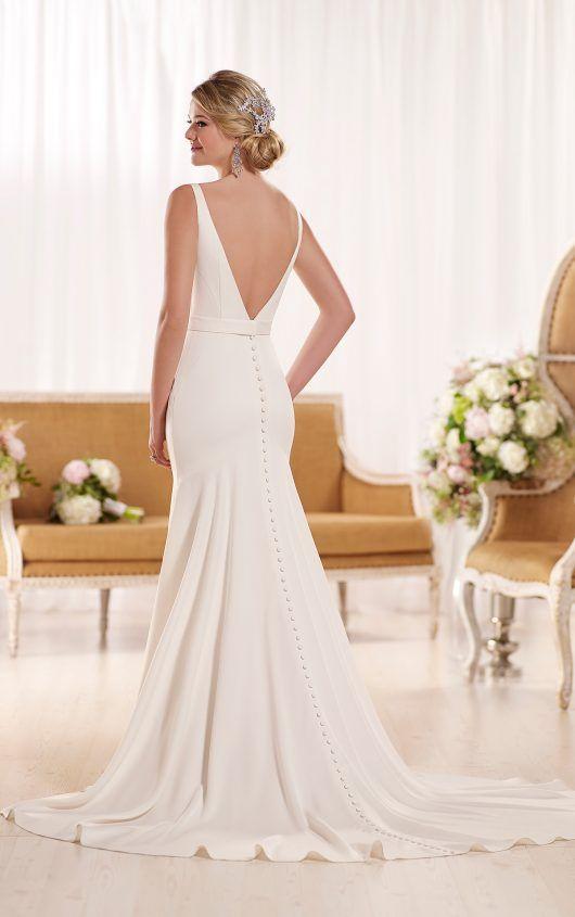 6e0a4f34e36 Modern Classic Wedding Dress by in 2019