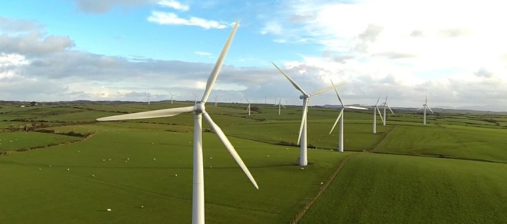 Mostyn Windfarm Aerial Photography by Aerialworx Aerial UAV BNUC photographers.