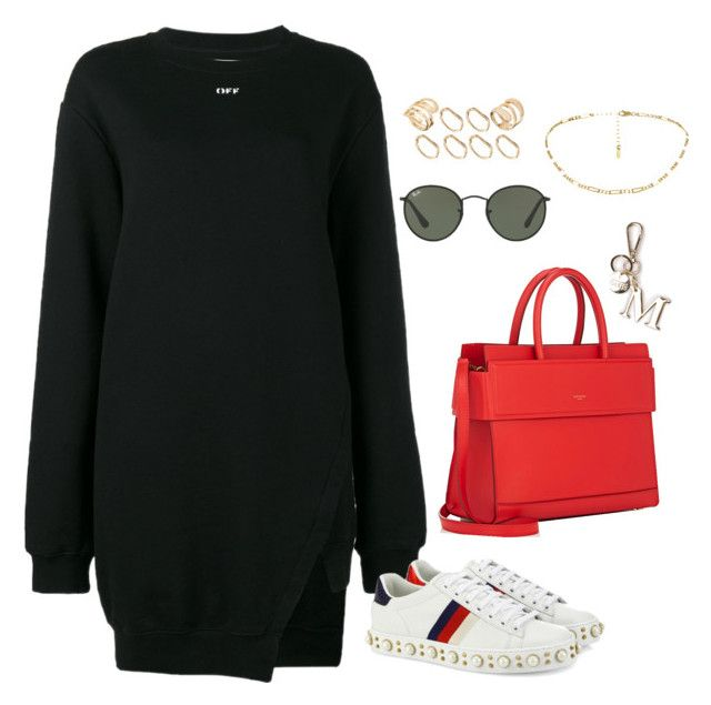 """""""Untitled #4197"""" by magsmccray on Polyvore featuring Off-White, Gucci, Ray-Ban, Givenchy and ASOS"""