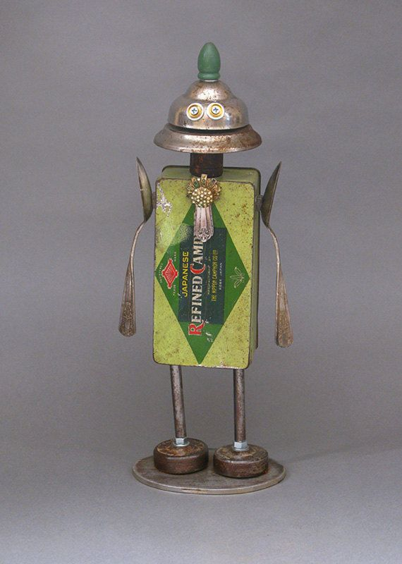 Hey, I found this really awesome Etsy listing at https://www.etsy.com/listing/210979478/robot-sculpture-metal-art-sculpture-junk