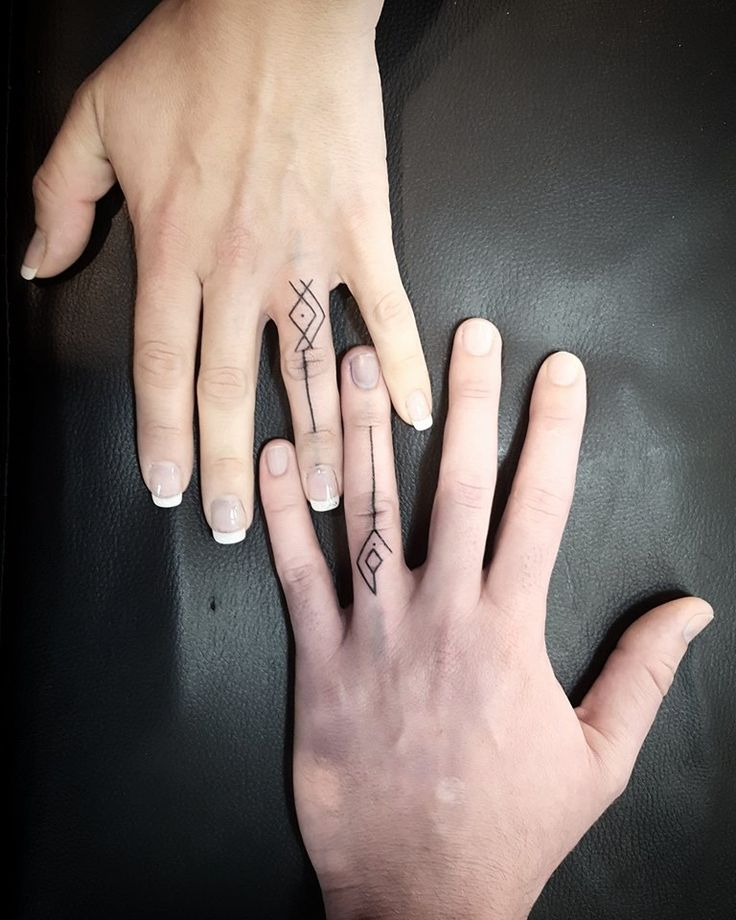 17 Best Ideas About Couples Finger Tattoos On Pinterest Couples Ring Tattoos Wedding Ring
