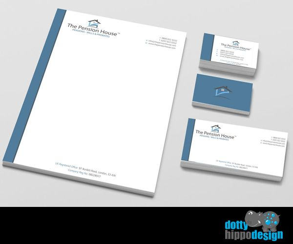 Business stationery pack for The Pension House