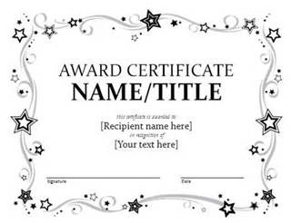 Free Printable Award Certificate Template - Bing Images
