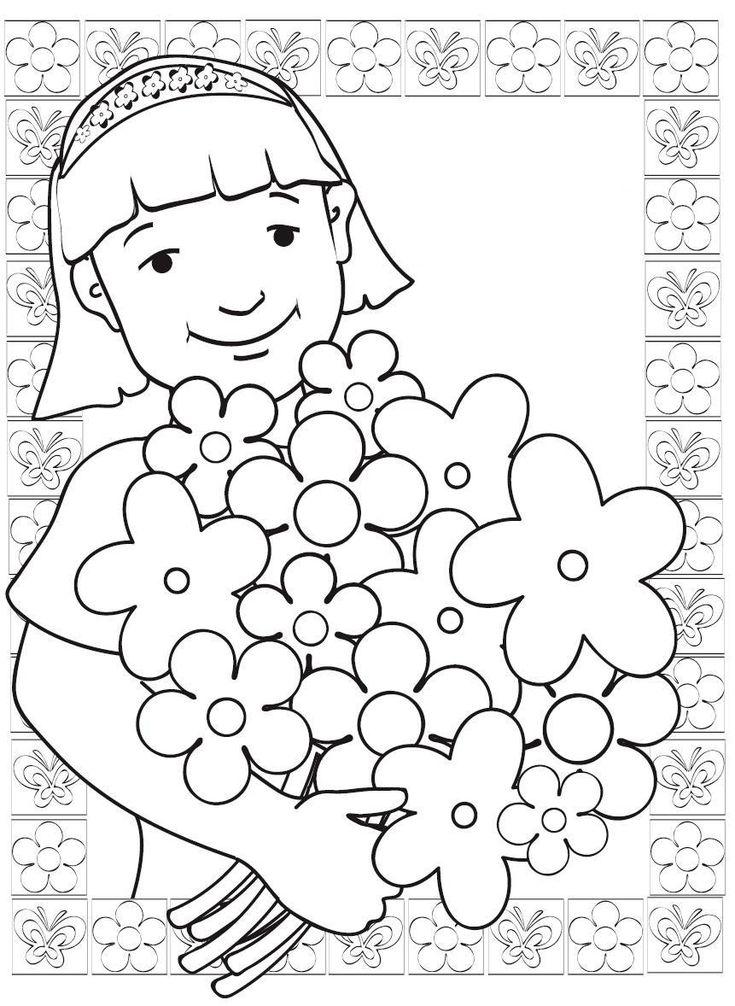 Pintura de imagens, Dia da Mãe, expressão plástica, corações, amor, filhos, flores