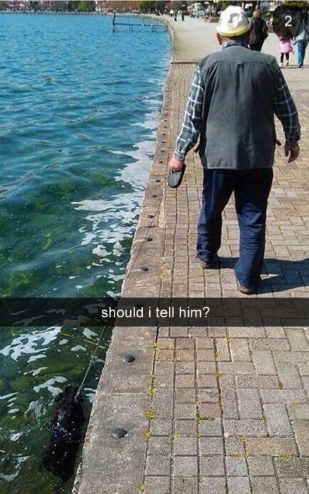 Should I tell him?