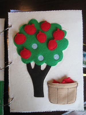 Apple tree quiet book page