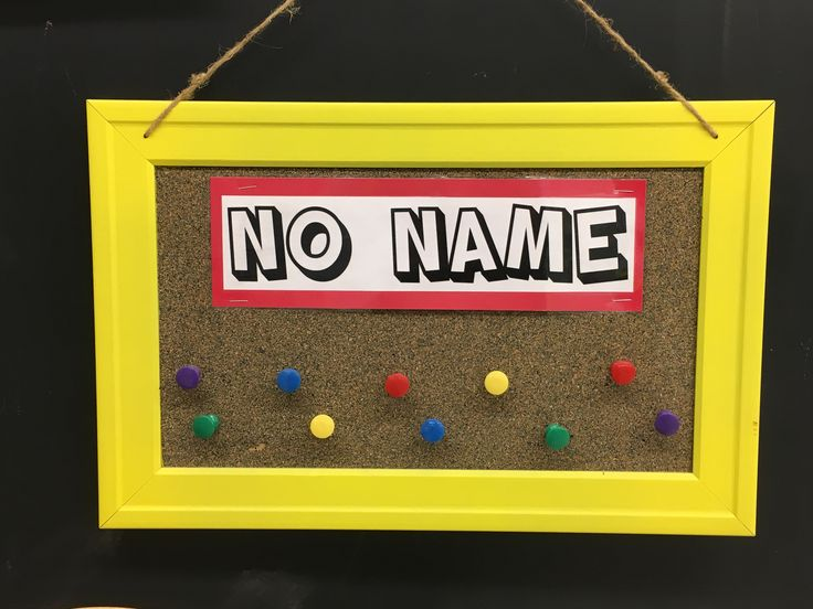 No name board for classroom