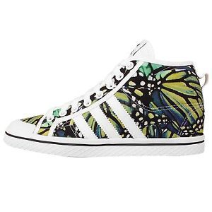 Adidas Honey Stripes Up w White Butterfly Womens Wedges Casual ...