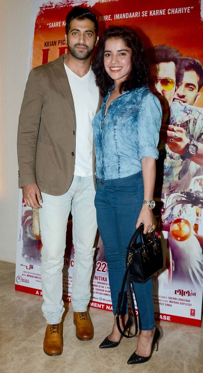 Akshay Oberoi with Piaa Bajpai at screening of 'Laal Rang'. #Bollywood #Fashion #Style #Beauty #Hot
