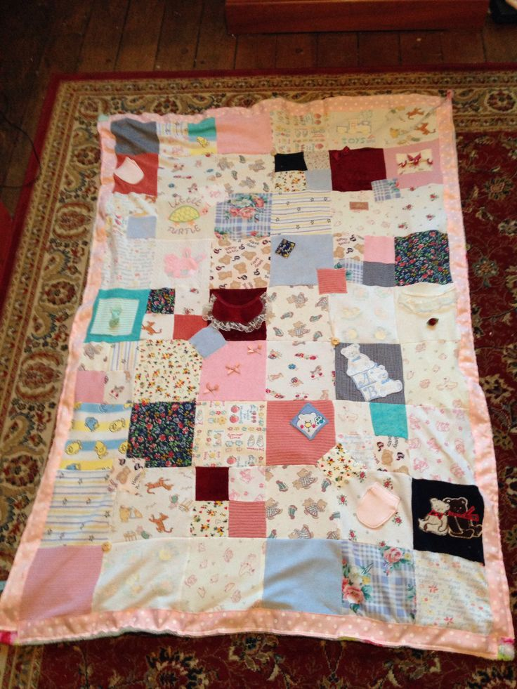 Blanket made from baby clothes
