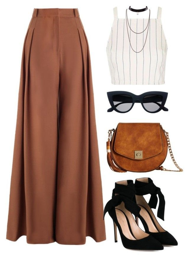 """Untitled #687"" by luhmartins ❤️ liked on Polyvore featuring Topshop, Zimmermann, Gianvito Rossi and Gabriella Rocha"
