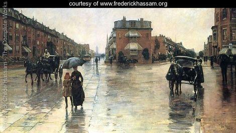 Frederick Childe Hassam Rainy Day, Boston