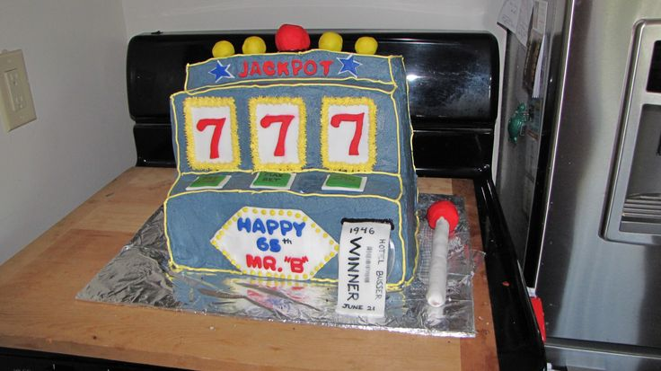 Slot machine cake. Mr. Busser's 60th Birthday.
