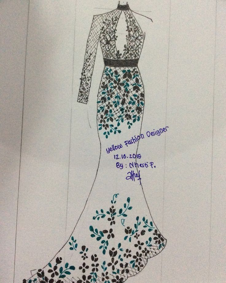Yellow Fashion Designer  By : me