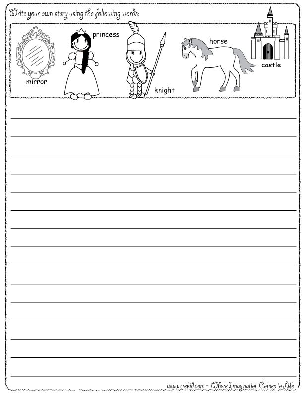 princess drawing writing stories story rocks kindergarten first grade second grade. Black Bedroom Furniture Sets. Home Design Ideas
