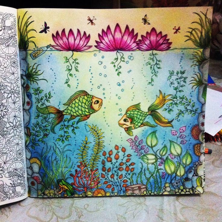 Fish Secret Garden Peixe Jardim Secreto Johanna Basford