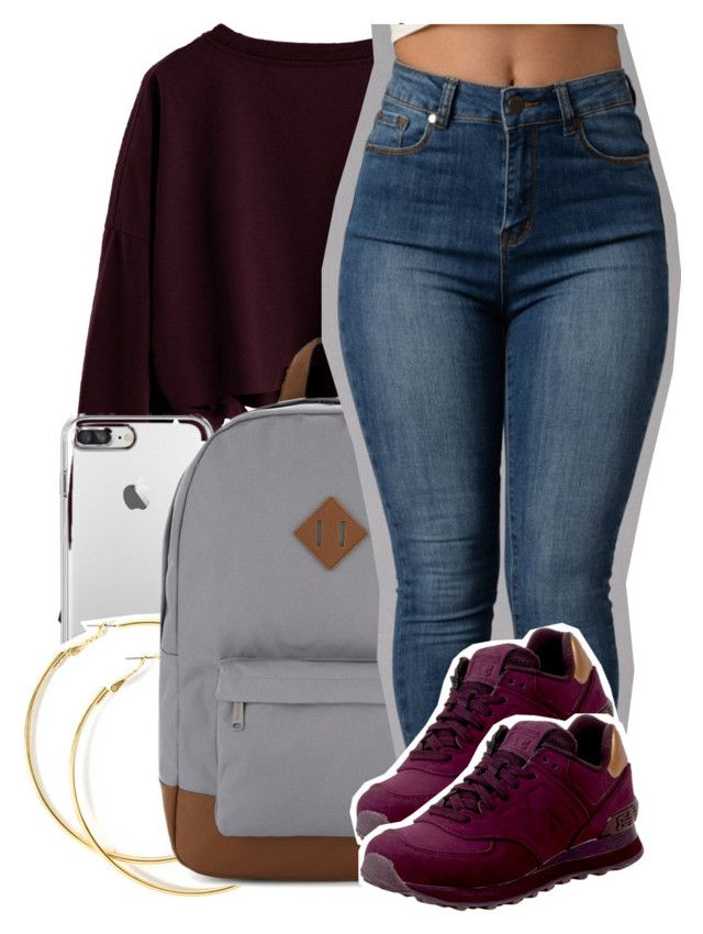 """Sem título #2134"" by isabellacarolina161 ❤ liked on Polyvore featuring Herschel Supply Co. and New Balance"