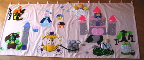interactive wall-hangings with finger puppets