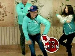 The King of Dance Yoo Jae Suk (hahaha)  Guest: Ryu Hyun Jin and Suzy [Running Man Episode 173] [GIF]  #RunningMan