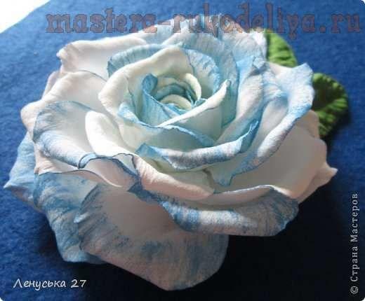 Мастер-класс: Роза из фоамирана. Раскрой+сборка